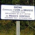 Sur les chemins de la mémoire du maquis ventoux à izon-la-bruisse (drôme)