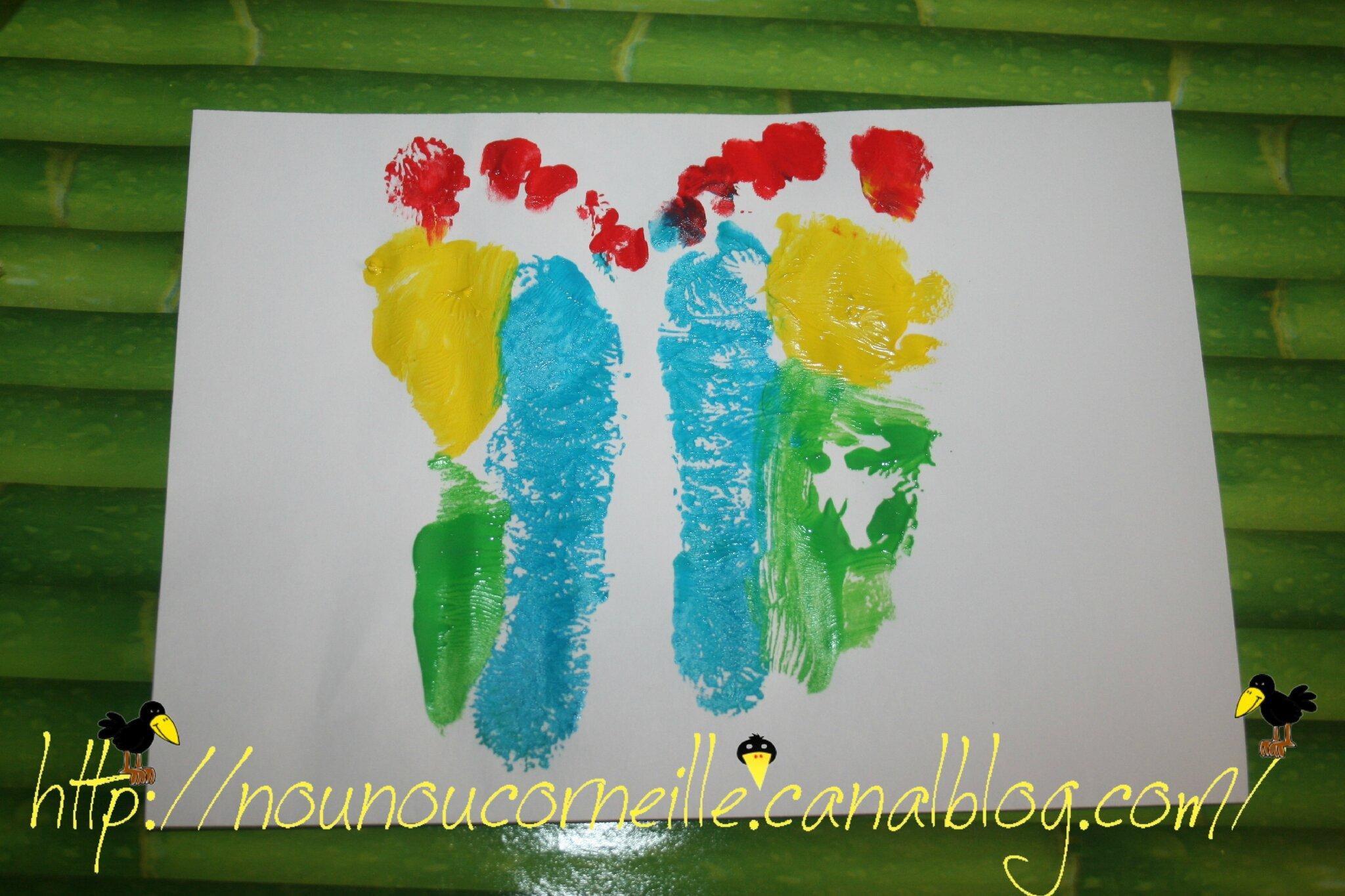 Peinture pieds papillon