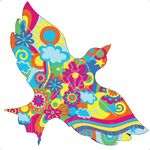 22243_clipart_illustration_of_a_colorful_floral_psychedelic_dove_of_peace_with_sunshine_flowers_clouds_and_swirls_flying_over_a_black_background