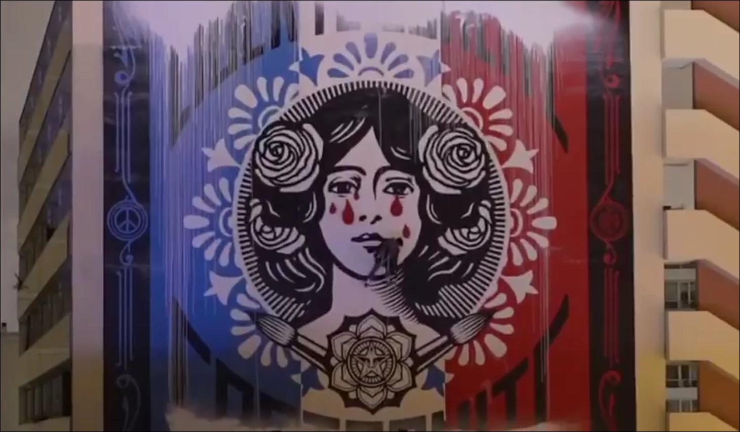 - #MariannePleure !: L'équipe de graffeurs revient sur sa performance avec une vidéo spectaculaire (et le texte intégral)