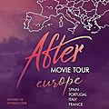 Les acteurs du film after en tournée pour la promo en europe