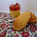 Verrines crème de citron et gelée de fraises
