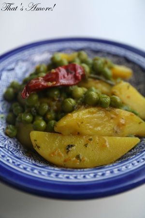 Curry di patate e piselli3