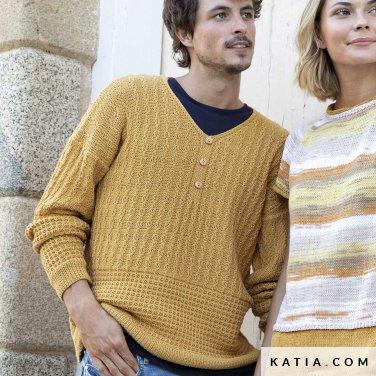 patron-tricoter-tricot-crochet-homme-pull-printemps-ete-katia-6122-11-p
