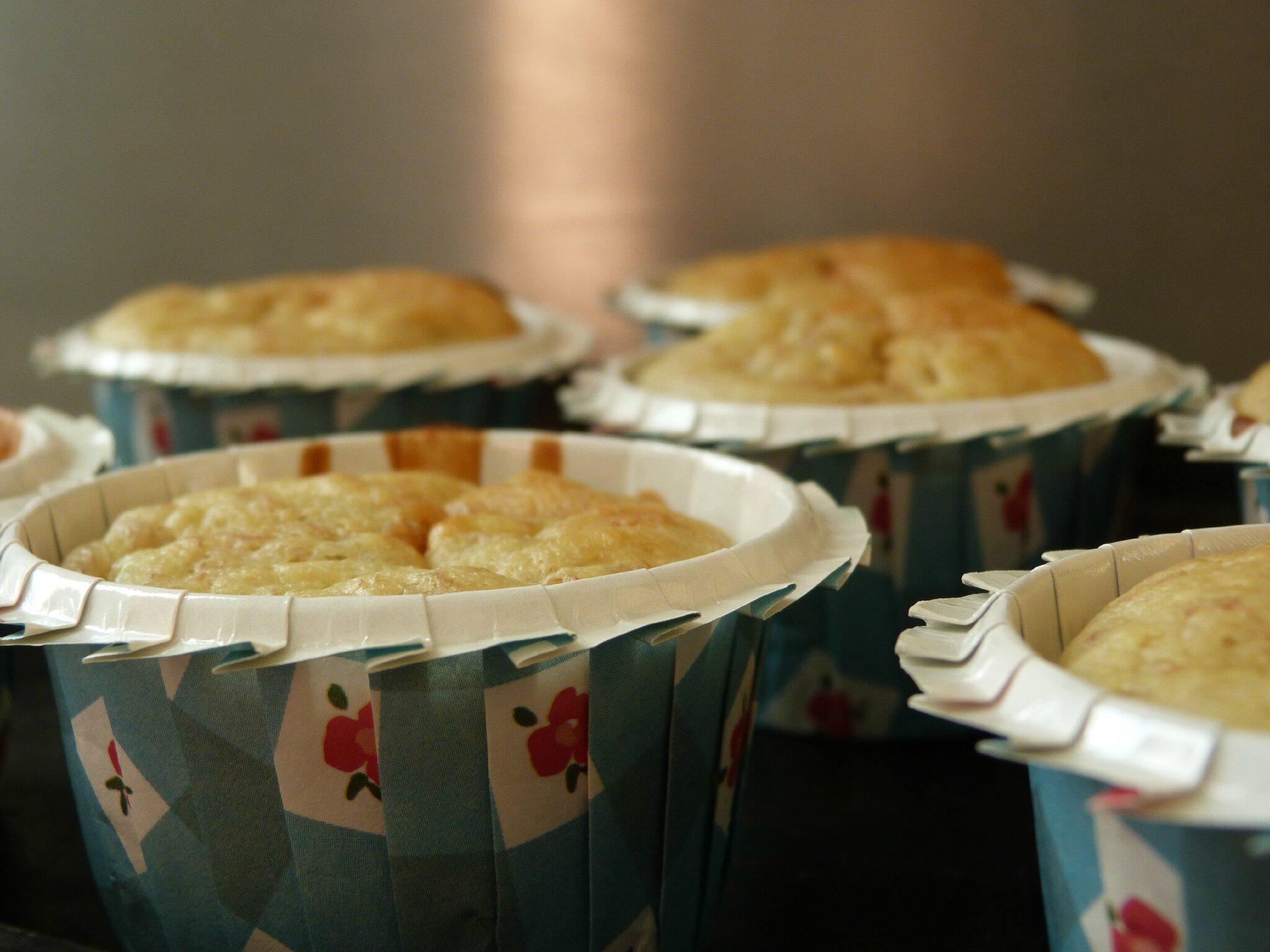 Muffins banane-coco-Nutella