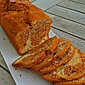 Cake marbré à la cannelle et aux noix
