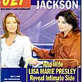 Michael jackson and his wife lisa marie presley reveal intimate side as lovers, parents and best friends - jet, 3 juillet 1995