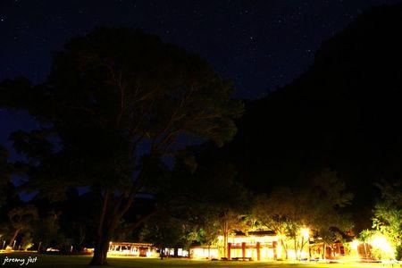 zion lodge by night
