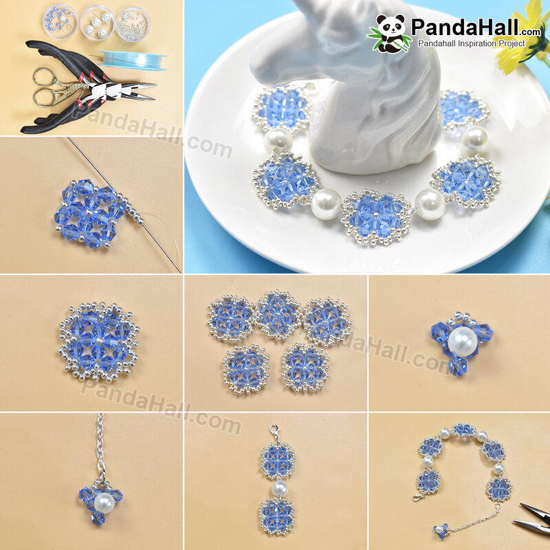 1080-PandaHall-Idea-on-Blue-Flower-Pattern-Beaded-Bracelet