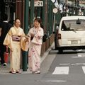 japonaises en tenue traditionnelle