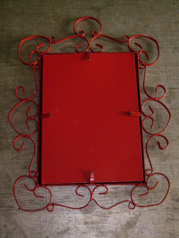 Miroir rouge - dos