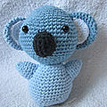 Test crochet - koala bear amigurumi...