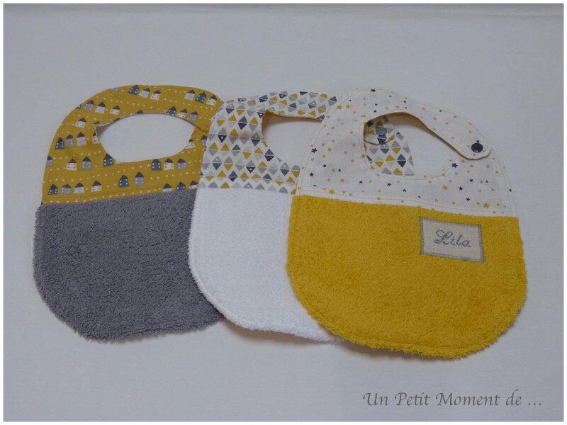 Ensemble naissance jaune et gris 6
