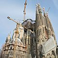 Barcelone, la Sagrada Familia (Espagne)