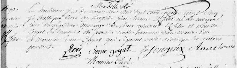 1785 naissance Jean Marie Kerfelec à Malestroit