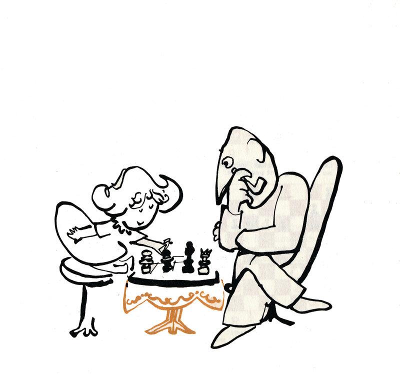 Je joue mieux aux échecs 136 illustration Lucien Meys