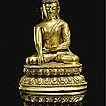 A gilt bronze figure of buddha, ming dynasty, 15th-16th century