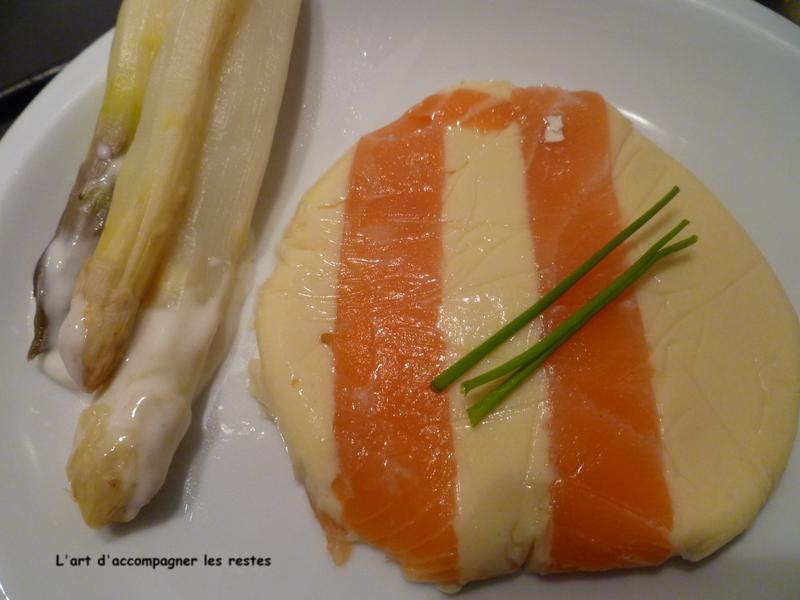 Mousse d'asperges au saumon fumé 2