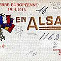 La guerre européenne en alsace, 1914-1916