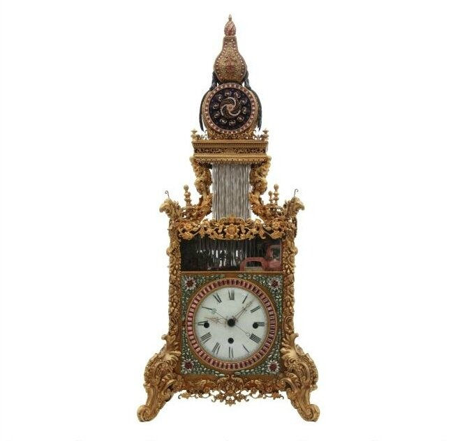 Rare Antique Chinese Animated Triple Fusee Bracket Clock Soars To 1 27 Million At Fontaine S Alain R Truong