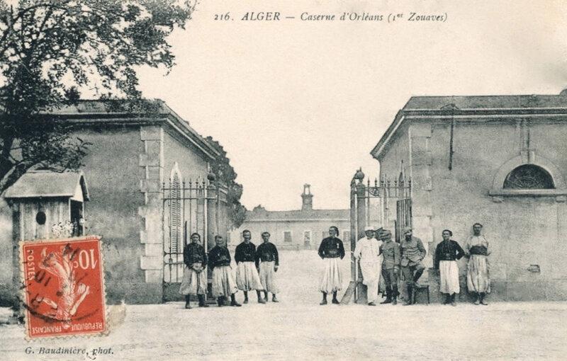 Alger, caserne d'Orléans, 1er Zouaves