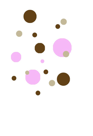 dots marron beiges rose