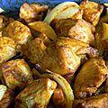 Emincés de poulet au four aux épices tandoori