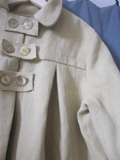 Manteau d'été en lin ocre fâné