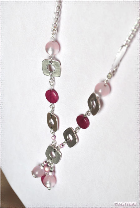 Collier printemps rose1