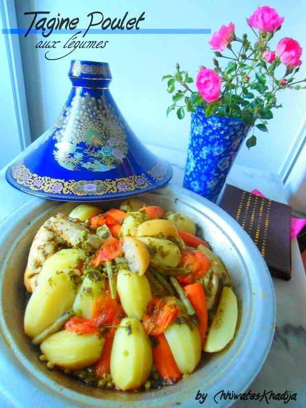 Tagine poulet légumes