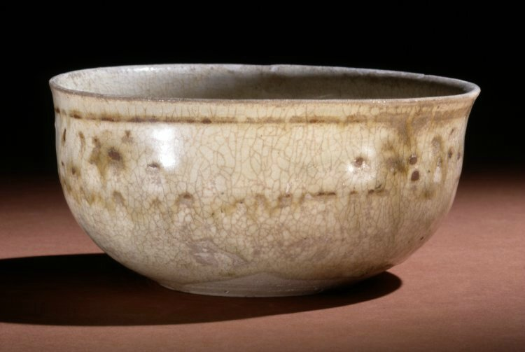 Bowl. Spots and 5 spur, late 13th C, Vietnam. Made of cream, brown glazed stoneware. Diameter: 5 inches. Height: 2.25 inches. Collected by Prof Charles Gabriel Seligman. Collected by Louis Clarke. Donated by Brenda Zara Seligman.1940,1214.247. British Muse
