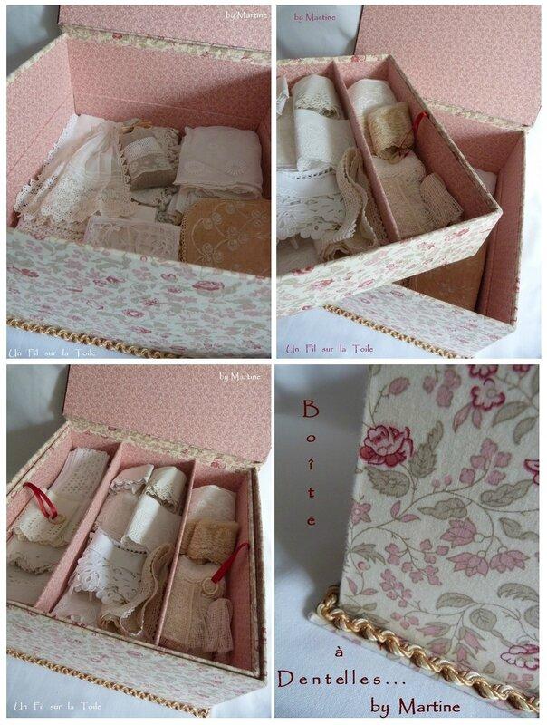 montage boîte à dentelles