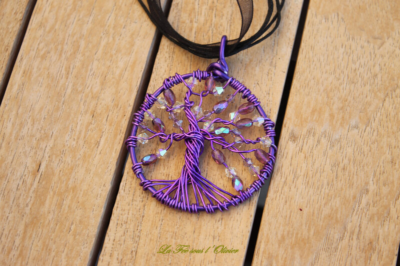 arbre vie violet