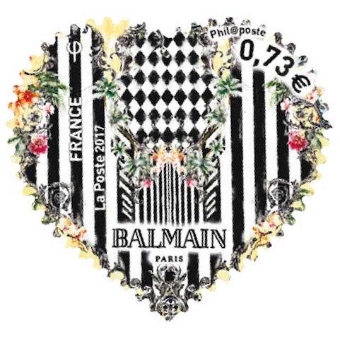 la poste timbre coeur balmain 3