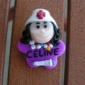 Badge céline infirmiere