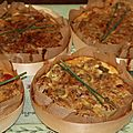 Quiches sans pate thon, olives vertes, pommes de terre et tomates cerise