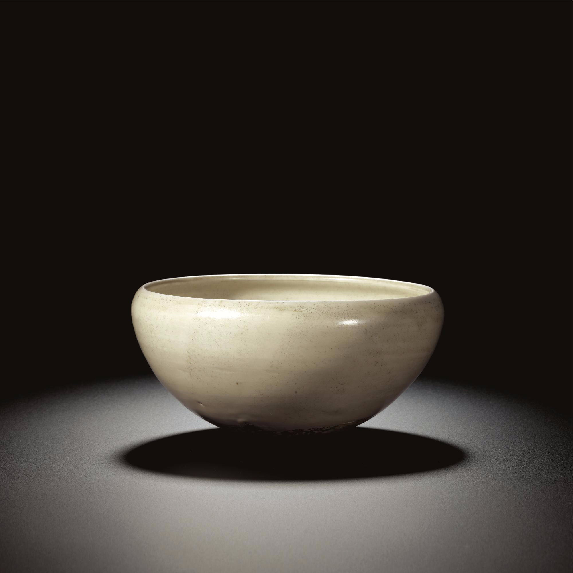 A rare white stoneware alms bowl, Tang dynasty
