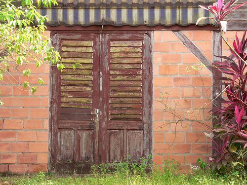 Cacao : maison hmong, briques et bois