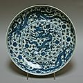 Dish with Dragons and Lotuses, Ming dynasty (1368–1644), Zhengde mark and period (1506–21)