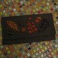 Une pochette feutrine et broderie du chouette kit 12, aux couleurs de l'automne: