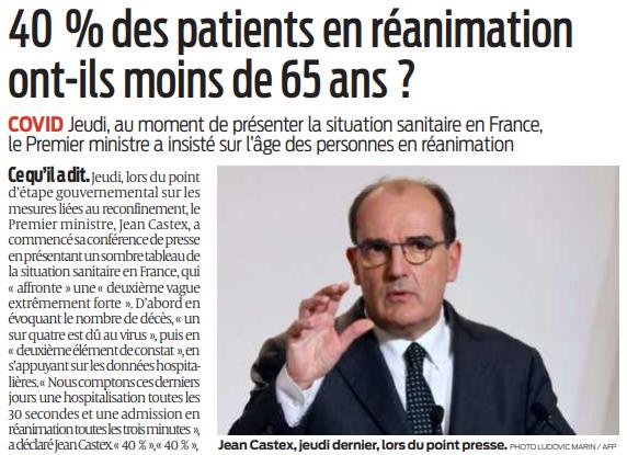 2020 11 17 SO 40 pour cent des patients en réanimation ont-ils moins de 65 ans