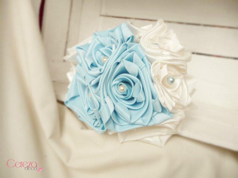 25 janvier fleurs mariage ivoire bleu ciel bouquet Virginie cereza deco 1