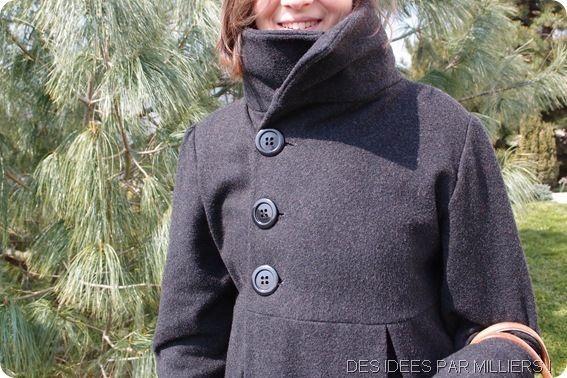 Des Idées Par Milliers - Manteau d'hiver en laine - Patron gratuit - Fermeture bouton - Pinces dans le dos