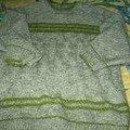 Vert et Kaki/jersey et damier