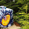 Flower mural on the water tank