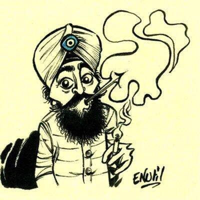 039- Le Sikh clope