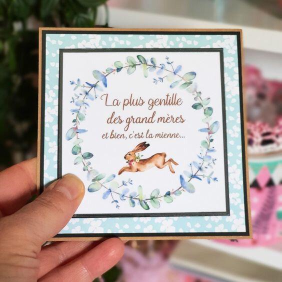carte grand mère vanillejolie