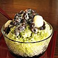 Kakigori, glace râpée japonaise