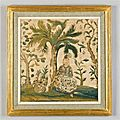 An italian chinoiserie needlework picture. italy, ca 1670
