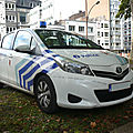 Toyota yaris police de liège